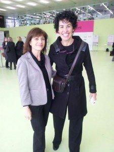 Nuestra socia, Salvi Richart junto a la actriz, cantante y empresaria Nina