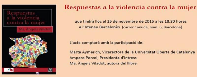 """RECOMENDACIÓN DE #LIBROS """"RESPUESTAS A LA VIOENCIA CONTRA LA MUJER"""""""