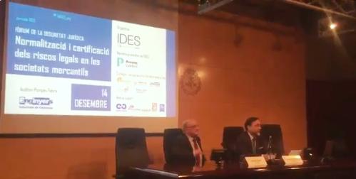 El pasado 14 de diciembre tuvo lugar en Barcelona el Foro de Seguridad Jurídica organizado por el Instituto de Estudios de la Seguridad (IDES)