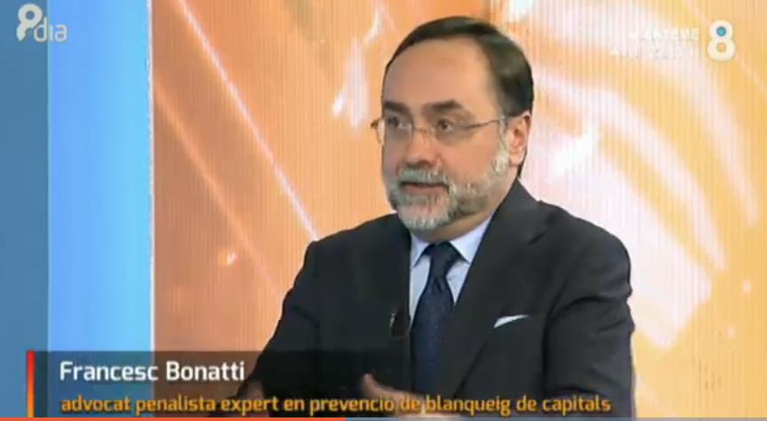 rancisco Bonatti analista invitado en 8aldia con Josep Cuní sobre Blanqueo